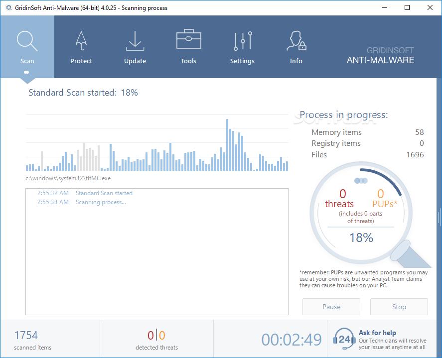 GridinSoft Anti-Malware 4.1.58 Crack Full Registration Code Latest {Win/Mac}