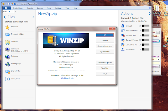 WinZip Pro 23 Crack Full Registration Key Latest Version 2019 {32/64 Bit}